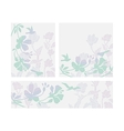 Floral layouts set vector