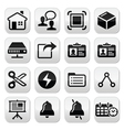Web internet black buttons set vector