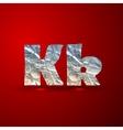 Set of aluminum or silver foil letters letter k vector