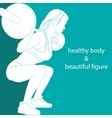 Healthy body and beautiful figure vector
