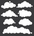 Clouds blue set vector
