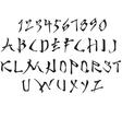 Latin alphabet stylized vector