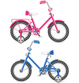 Kids bicycles vector