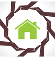 Protect home concept vector