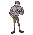Male cartoon robot vector