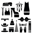 Silhouettes of clothes vector