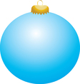 Baby blue ball ornament vector