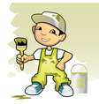 Decorator with brush vector