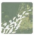 Leaves grunge background vector
