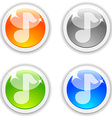 Sound buttons vector