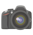 Slr photo camera vector