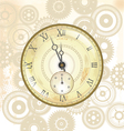 Old watch background vector