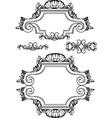 Antique vintage frames vector