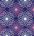 Pattern with white and pink flowers vector