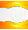 Vibrant orange wavy design vector