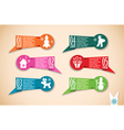 Origami christmas banners set vector