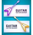 Guitar background concept vector