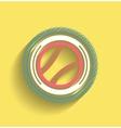 Tennis ball icon flat modern icon vector