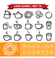 Line icons set 19 vector