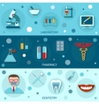 Medical flat banners vector