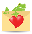 Letter and heart vector