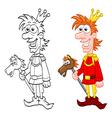 Cartoon charming prince vector