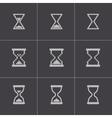 Black hourglass icons set vector