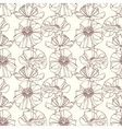 Seamless pattern with poppies floral background vector