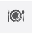Forkspoon and plate design template vector
