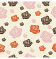 Seamless with roses vector
