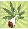 A smoker cartoon vector