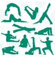 Yoga position vector
