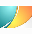 Abstract colorful corporate waves background vector
