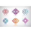 Set of abstract colorful icons logos vector