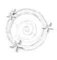 White grunge floral background vector