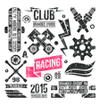 Car racing badges in retro style vector