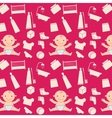 Pattern with baby vector