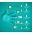 Five steps vector