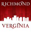 Richmond virginia city skyline silhouette vector