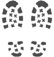 Grunge bootprints vector