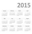 Simple calendar for 2015 year vector