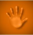 Human palm vector