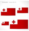 Tonga flag template vector