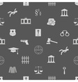 Justice and law icons seamless pattern eps10 vector