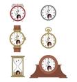 Cartoon screaming clock face smiles 09 vector