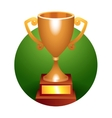 Trophy bronze cup vector