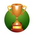 Trophy bronze cup vector