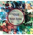 Round frame for text over colorful triangles vector