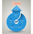 Isolated blue circular arrow with icons vector