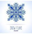 Doodle snow flake vector